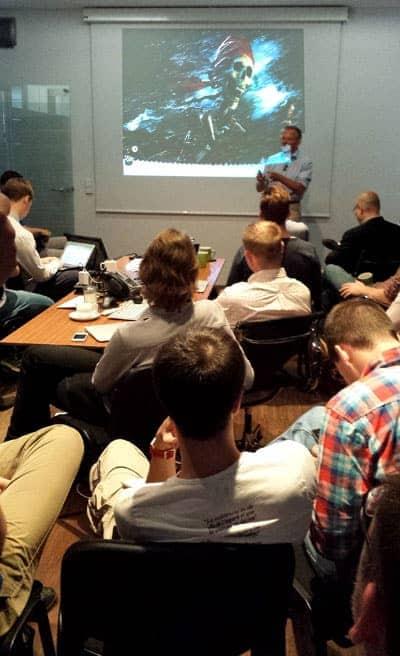 """Statt Krawatten gab es bei Fidor TecS """"First Developer Day 2014"""" markige Sprüche zur Bankenkrise."""
