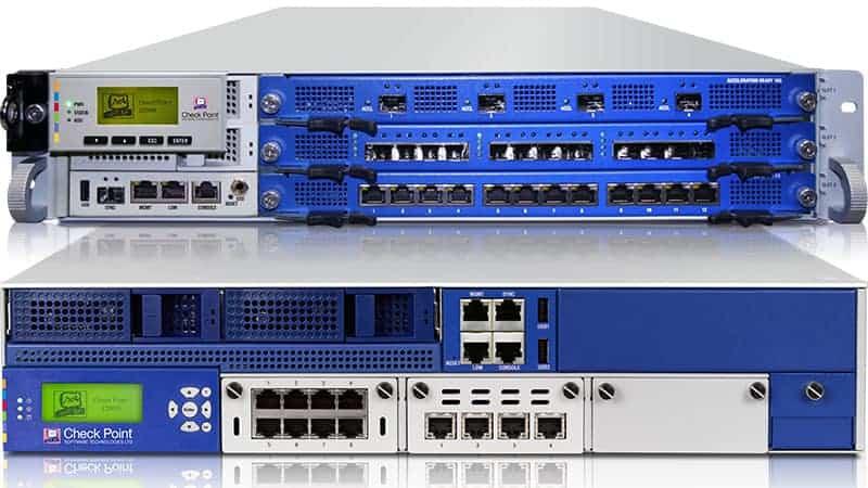Die 13800 und 21800 bieten je 6,5 bzw. 7 GBit/s Datendurchsatz. Quelle: Check Point