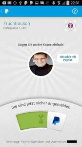 Schon jetzt möglich: mobile autorisierung der Zahlung per PayPal.