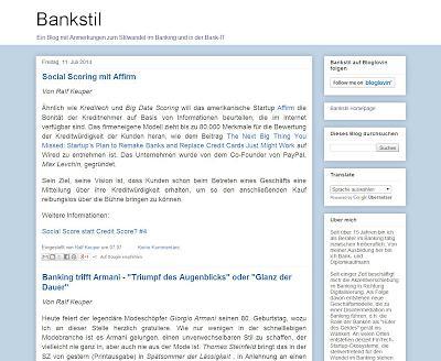 Das Bankstil-Blog widmet sich der Veränderung des Bankings durch den Einsatz neuer Technologien. Bild: Bankstil