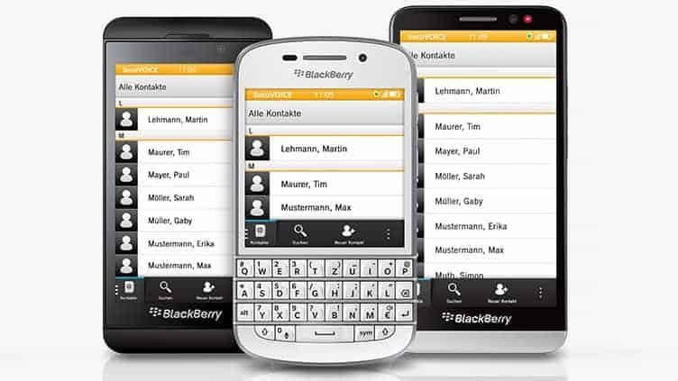 BlackBerry Smartphones: Z10, Q10 und Z30 mit Secusmart-Schutz Quelle: Secusmart