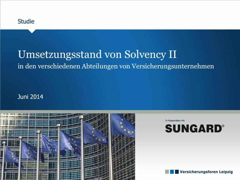 Solvency-II-Studie von Sungard und den Versicherungsforen Leipzig. Quelle: Versicherungsforen Leipzig
