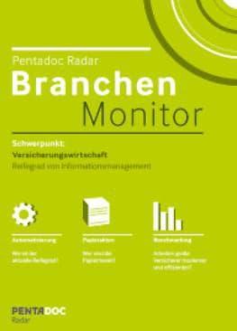 Pentadoc Radar - Branchen Monitor. Bild PENTADOC AG - Pentadoc Radar