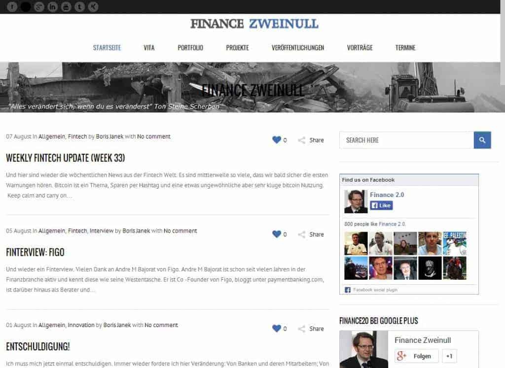 Finance Zweinull widmet sich den FinTech-Startups.
