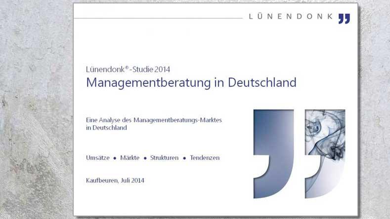 """Lünendonk-Studie 2014 """"Managementberatung in Deutschland"""". Quelle: Lünendonk"""
