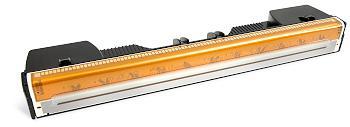 Die neuen ultrahohen Druckgeschwindigkeiten bei Tintenstrahldruckern werden durch Druckköpfe in Seitenbreite möglich. Es bewegt sich nur noch das Papier. Quelle: memjet