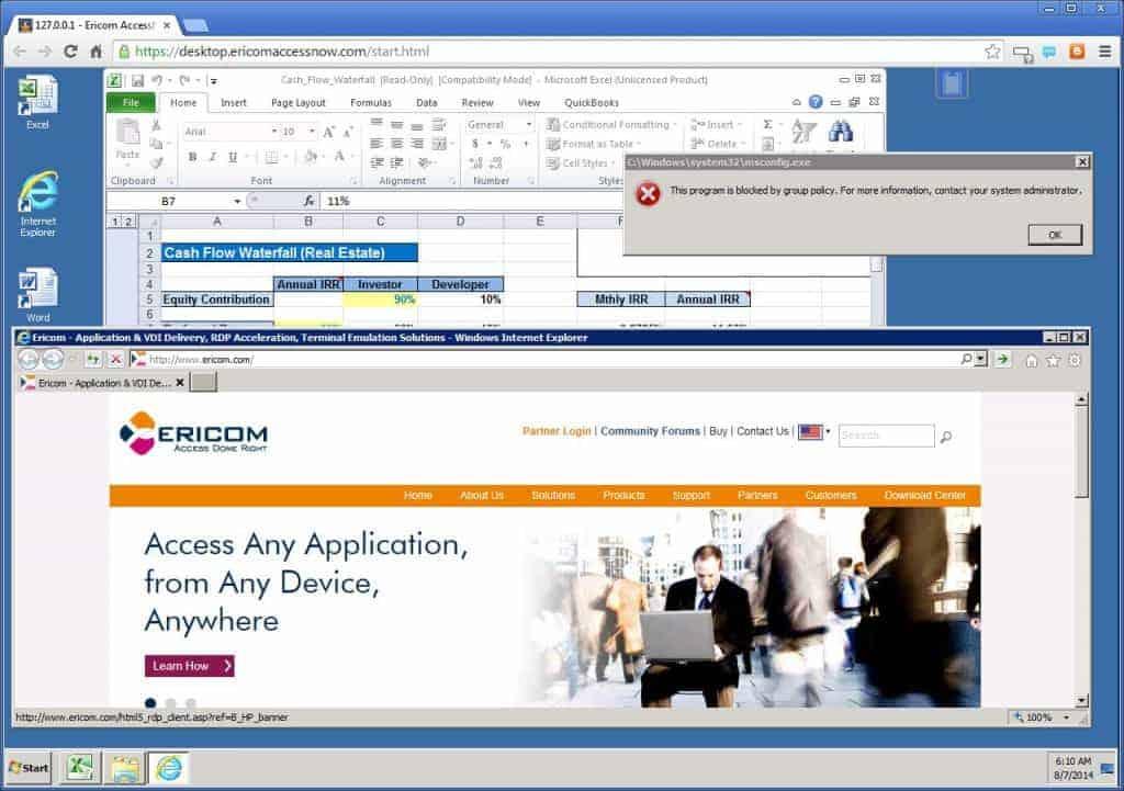 Virtuelle Desktops lassen sich mit der AccessNow-Lösung auf allen HTML5-fähigen Endgeräten darstellen.
