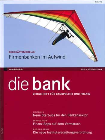 """September-Ausgabe der Zeitschrift """"die bank"""""""