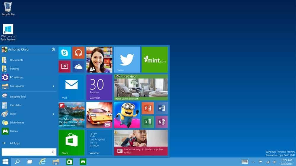 Windows 10 - die Rückkehr des StartmenüsMicrosoft