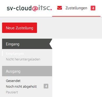 """Per Sozialversicherungscloud """"sv-cloud@itsc"""" sollen große Datenmengen zwischen Sozialversicherungspartnern geschützt übertragen werden können."""
