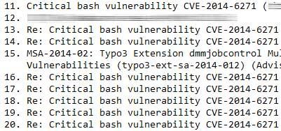 In den einschlägigen Security-Listen geht es derzeit hoch her: Es werden wege geucht, wie Shellshock mit möglichst einfachen mitteln unterbunden werden kann.