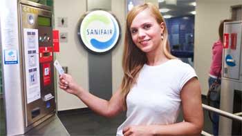 Kontaktloses Bezahlen per girogo bei Sanifair Quelle: EURO Kartensysteme