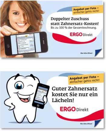 Mit zwei Titeln testete die ERGO Direkt erstmals im Herbst/Winter 2013 die Handy-Versicherung. Ergo