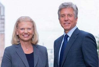 Ginni Rometty, CEO von IBM und Bill McDermott, Vorstandssprecher der SAP SE IBM
