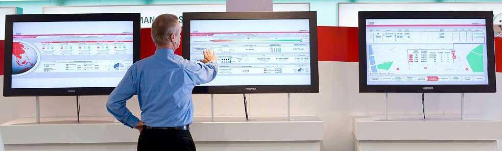 Die Management Dashboard Lösung von Wincor Nixdorf liefert jederzeit aktuelle Informationen über den Status von SB-Systemen, Cash- und Prozessdaten Wincor Nixdorf