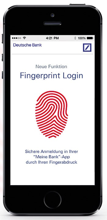 Authentifizierung per Fingerabdruck bei der Deutschen Bank