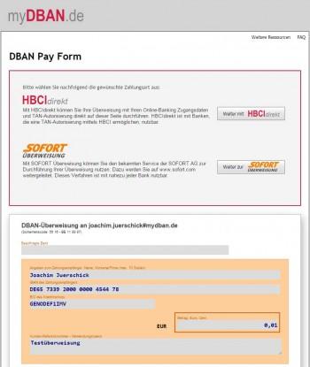 Per DBAN lassen sich per Link oder QR-Code Zahlungen über das myDBAN-Portal ausführen