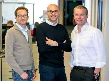 Das Management von auxmoney: Philip Kamp, Raffael Johnen und Philipp Kriependorf wollen Crowdlending als Alternative zur Bank etablierenauxmoney