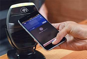 """Das Payment per Apple iPhone6 nutzt ein """"Secure Element"""" in dem Kartendaten gespeichert sind.VISA"""