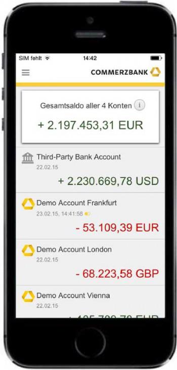 Zur Strategie gehört auch eine Art PFM-App für Firmenkunden.Commerzbank