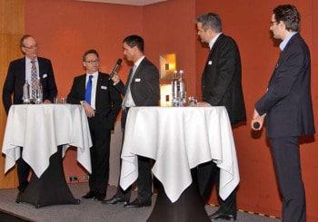 Prof. Dr. Hans-Gert Penzel (ibi research), Dr. Ralf Kölbach ( Westerwald Bank), Peter Fuchs (Consorsbank), Jörg Schille (PayPal), Dr. Oliver Vins (Vaamo)ibi research