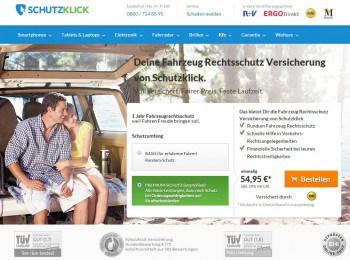Schutzklick: Von der Handy-Versicherung bis hin zum Rechtsschutz-Paket.