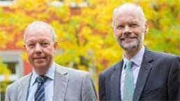 Thomas Jorberg (Vorstandssprecher) und Andreas Neukirch (Vorstandsmitglied) der GLS BankGLS Bank