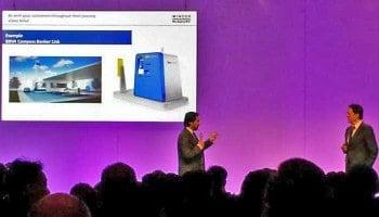 Banking 2020: Wincor Nixdorf will nicht nur Geldabheben am ATM in 13 Sek. per NFC-Smartphone ermöglichen, sondern auch Bankservices per Video-Teller-ATM (z.B. an Tankstellen) anbieten.