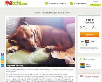 Über Leechi.com lassen sich Spenden einsammelnLeechi.com