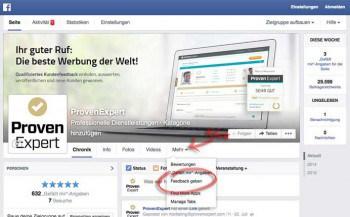Die Facebook-App von ProfenExpert soll sich natlos in den Auftritt integrierenProvenExpert