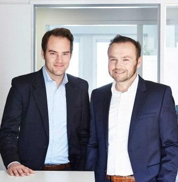 Die beiden Vorstände von Treefin: Andreas Gensch (links) und Reinhard Tahedl.treefin