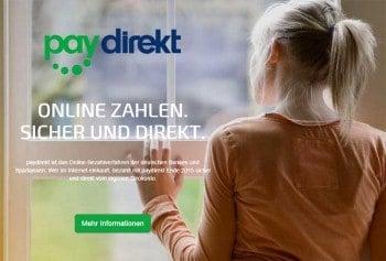 Die neue Paydirekt-Website (www.paydirekt.de)