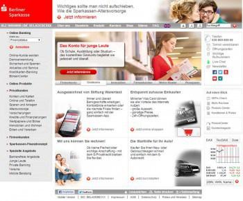 Nur ein exemplarisches Beispiel: 60 Einstiegspunkte und BankischBerliner Sparkasse
