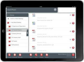 iPAD statt Sitzungspapiere: Die Helvetia nutzt cloud-Technologie für die SpeicherungBrainloop