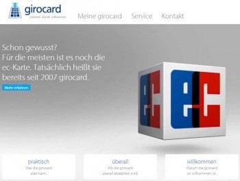 Die neue Website soll unter anderem erklären, das die ec-Karte doch eigenltich schon seit 2007 in girocard umbenannt wurde.EURO Kartensysteme