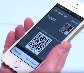 Die Auszahlung am Cineo C2020 erfolgt mit einer App, die dem GAA per QR-Code anzeigt, was er tun soll.Wincor Nixdorf