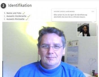 Vor der digitalen Unterschrift wird die Identität des Kunden überprüft.
