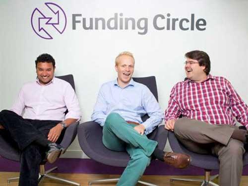 Die Funding Circle Gründer (v.l.n.r): Samir Desai, James Meekings und AndrewFunding Circle