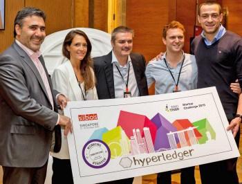 Das FinTech hyperledger räumte den Innotribe-Statup-Challenge-Preis abSWIFT