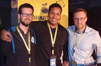 Die Sieger: CoctailTrade mit Mariusz Bodek, CoFounder der Comdirect-StartUp-Garage Gerd Reinkimm