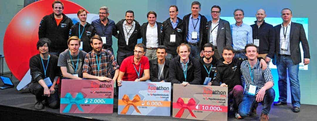 Die Sieger des Appathon 2015HVB/Unicredit