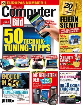 ComputerBild Ausgabe 2/2016 ab 9. Januar am KioskComputerBild Digital