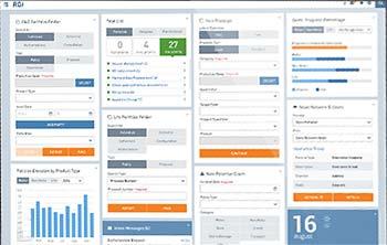 Die B2B-Suite sei für alle Nutzer gezielt eher als B2C-Anwendung gestaltet - also große Bedienelemente, an soziale Netze angelehntes LayoutRGI Group