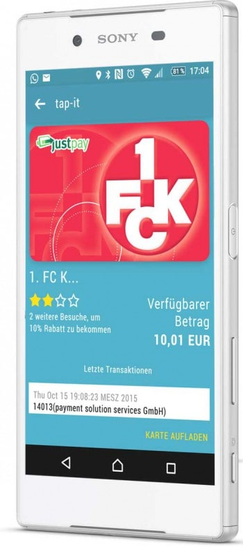 Mobile payment beim 1.FCKtap-it