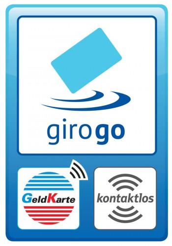 Schon mal gesehen? Das girogo-Akzeptanzstellen-Logo sucht man häufig vergebens.girogo