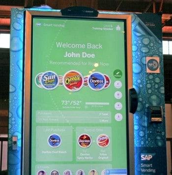 Bei Vodafone wird es auch die SAP Vending Machine geben, an der mit girocard mobile gezahlt werden kann.SAP