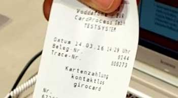 Bezahlung via CardProcess und FiduciaGADITFM