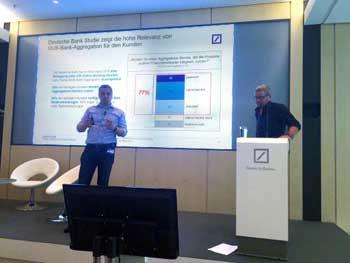 Das neue Selbstverständnis der DB - gemeinsam mit FinTechs - zeigte sich auch bei der gemeinsamen Präsentationfigo