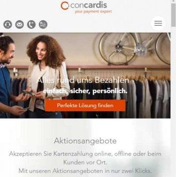 Die neue ConCardis-Website ist nun auch responsiv.ConCardis