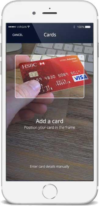 App füge alle Karten zu einer physischen Karte hinzu.Curve